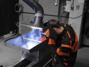 Extraction arms are the priority in occupational safety in welding processes