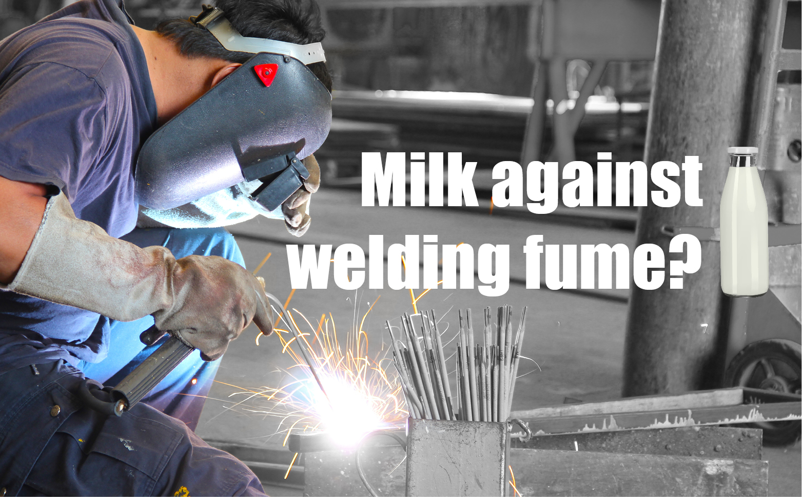 Milk against welding fumes: not much more than an old wives\' tale